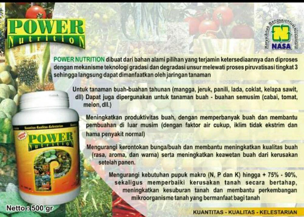 Pupuk Power Nutrition Nasa