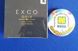 Jual Produk Terbaru NASA 2019, EXCO Gold Night Cream Lithening